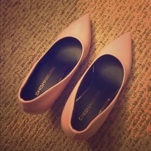 Pale Pastel Pink Pointy Heels Size 6